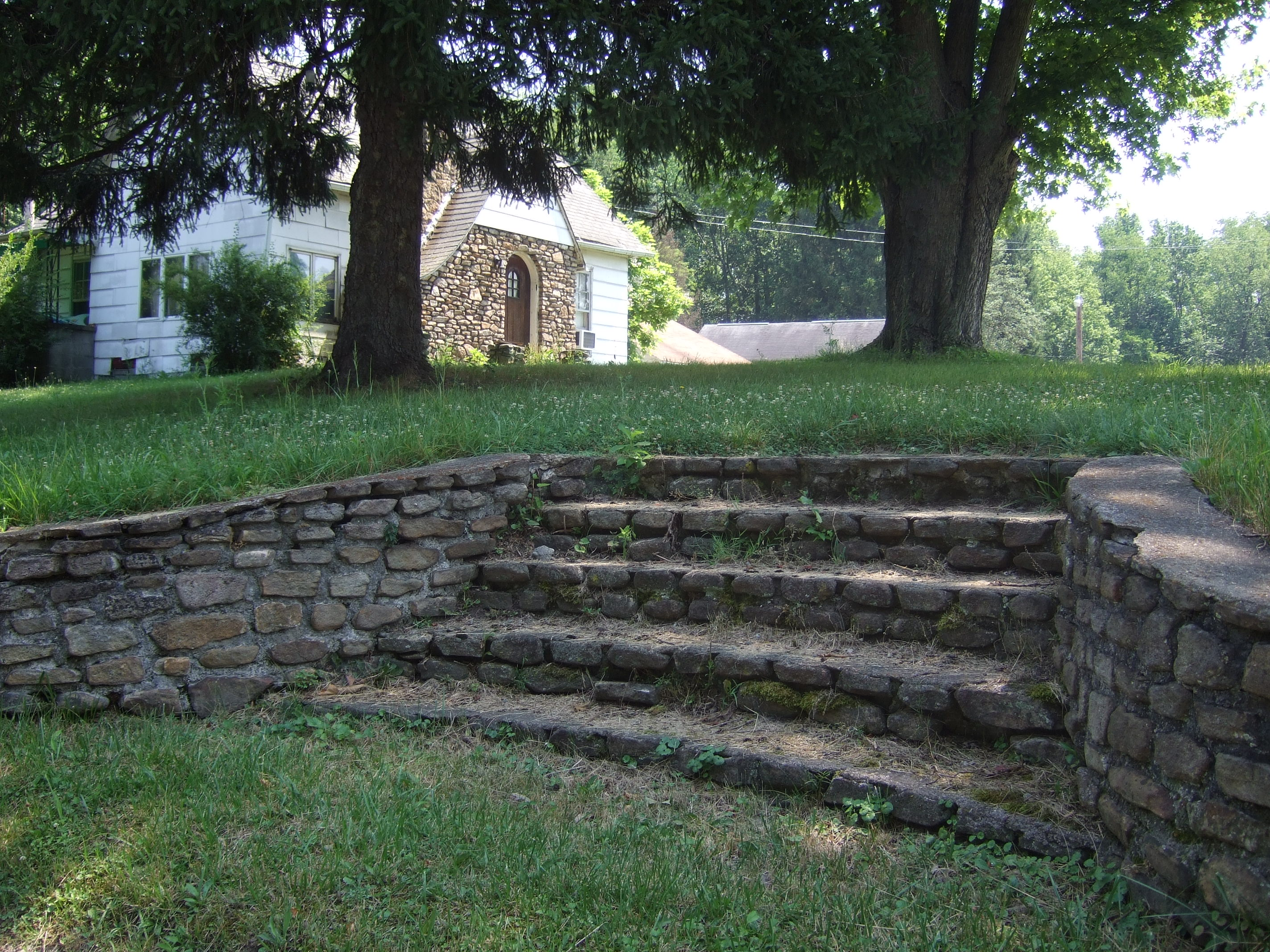 The carved steps. Ernie Yost Hells Half Acre