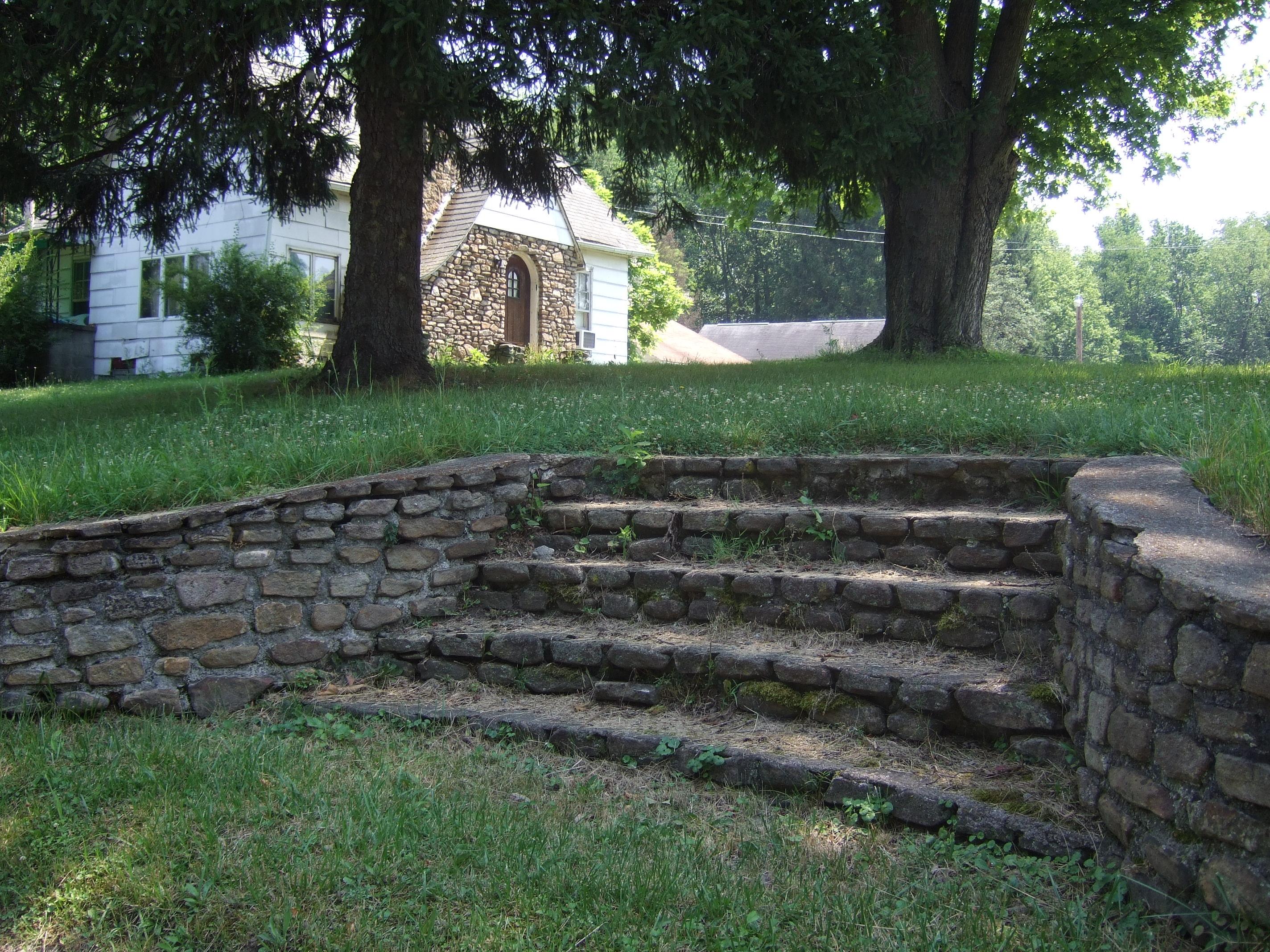 The carved steps. Ernie Yost Hells Half Acre