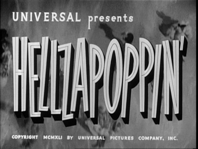 Hellzapoppin movie Yost